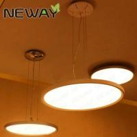 China modern ring LED light hanging steel aluminum crystal chandeliers pendant light for hotel wholesale