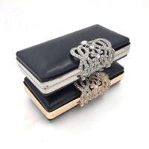 China Handbags Accessories Custom Rectangle Gold Iron Metal Purse Frame Box Clutch Bag Frames wholesale