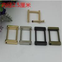 China Customized zinc alloy gunmetal color 25 mm metal square ring buckle for bags wholesale