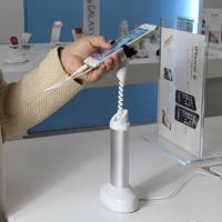 China COMER magnetic stands mobile phone security display holder with mechanical gripper wholesale