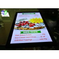 High Brightness Poster Frame Light Box 24 X 36 Picture Panels For Menu Board