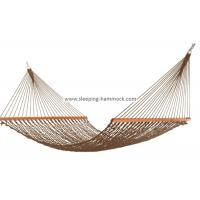Soft Spun Deluxe Polyester Rope Hammock , Extra Wide Brown Portable Mesh Hammock