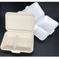 Buy cheap Eco Biodegradable 1000ml 2 Compartment Lunch Box Surgance Pulp Tableware Food from wholesalers