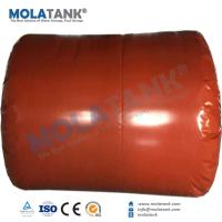 China Molatank collapsible Red Mud PVC Gas Bottle Cylinder Shape Storage Container Tank in Hot Sale wholesale