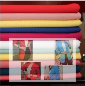 China Haute couture coat color jacquard knit fabrics bubble cloth wholesale