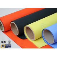China Acrylic Coated Fibreglass Fabric Orange 7628 260℃ 500℉ Chemical Resistant wholesale