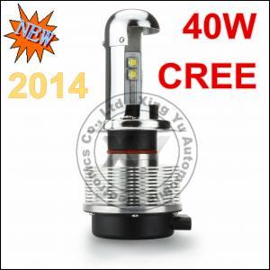 China 40W H4 Auto Cree Led Light Bulbs For Cars 12V - 24V DC 2400LM 6000K Led Headlight wholesale