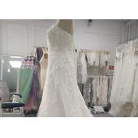 Luxury Blush Sequins Lace Bridal Gowns Plus Size With Train Lace Up Back