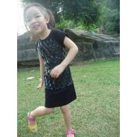 China Checked Faux Fur Leather Girls Fall Dresses Zip Back Cute Dresses For 7 Year Olds wholesale