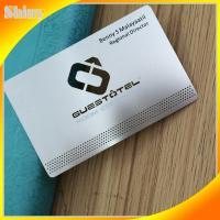 silk printing etched logo engraved brushed VIP stainless steel cards
