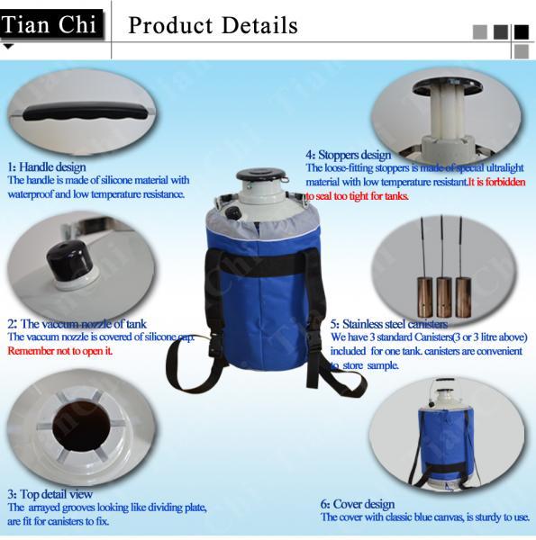 TianChi 35L Liquid Nitrogen Cylinder YDS-35-50 Dewar Vessels Price