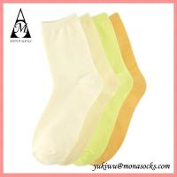 China Pure Colorful Crew Cotton Polyester Yoga Socks on sale