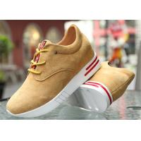 China Cow Suede Leather Upper Casual Sport Shoes , Platform Heel Girls Casual Shoes wholesale