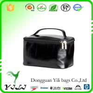 China Portable leather Cosmetic bag makeup bag Make-up kit cosmetics case storage bag on sale