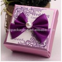 China fabric covered wedding invitation boxes/ wedding favor boxes wholesale