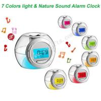 China Colorful Light & Nature Sound Alarm Clock wholesale