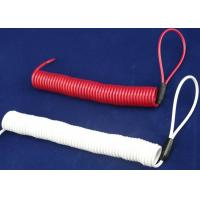 China Double Loops White/  Red Coil Spiral Spring Steel Cable For Tool Use wholesale