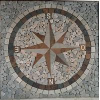 China Feature mosaic natural stones tiles in direction Pattern for Floor tile wholesale