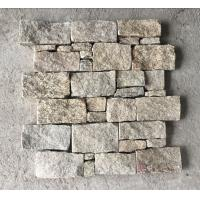 China Yellow Granite Z Stone Panel with Steel Wire Back,Natural Z Stacked Stone for Outdoor Wall Decor wholesale