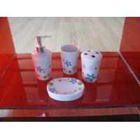China Commercial luxury Ceramic Bath Accessories with tumbler,tooth brush holder fixtures wholesale