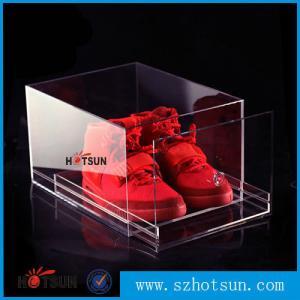 China 2016 New design acrylic shoe box/clear shoe box, Custom Shoe Box Manufacturer wholesale