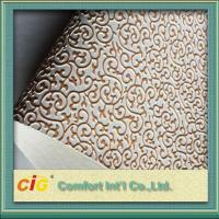 China Embossed Synthetic Waterproof Bag PVC Artificial Leather for wall decoration wholesale