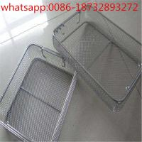 China disinfect basket/metal basket/stainless steel wire basket/wire mesh baskets from factory price wholesale