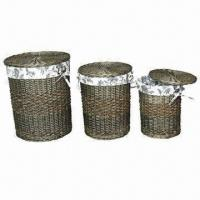 China Willow Laundry Basket/Hamper with Liners wholesale