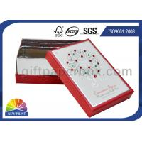 China OEM Rigid Paper Gift Box with Diamond Decorated / Cardboard Gift Box with Lid wholesale