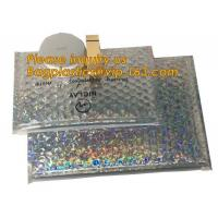 China air mail metallic holographi rose gold bubble padded mailer / ziplock bubble bag/ slider bubble bag,Holographic Factory wholesale