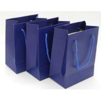 China Custom Printed Paper Gift Bags With Handles , Colored Paper Packaging Bags wholesale