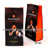 China Quad Seald Valve Coffee Packaging Bags With Side Gusset For Packing Coffee Powders on sale