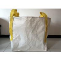 China Building Use 1 Tonne Bulk Bags , 100% Virgin PP White Large Bulk Bags wholesale