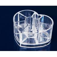 China Heart Clear Acrylic Makeup Organizer For Cosmetic Tools Holer wholesale