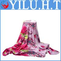 Buy cheap cheap hot sale 100% polyester animals flower and leaf print coral fleece from wholesalers