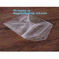 China promotional clear zipper slider pvc plastic document/ swimming bag, Slider Gusset Cosmetic Bag Makeup Case Plastic Water wholesale