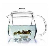 China Hand Made Clear Glass Teapot / Teaset With Loose Leaf Tea Infuser 500ml wholesale