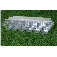 China 18 Cavities Empty Egg Cartons / Clear Plastic Egg Containers Unbreakable on sale