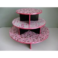 China Patterned Decorative Cupcake Stands , Commercial Disposable Cupcake Tier Stand on sale