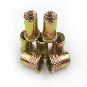 China Yellow Zinc Plated Steel Twist-Resistant Rivet Nuts Blind Rivet Nuts on sale