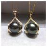China 18k Gold Jewelry South Pearl Pendant Necklace Pave Diamonds wholesale