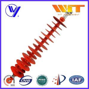China 110KV Hang Type Rod Model Red Polymer Suspension Insulators Pin Post wholesale