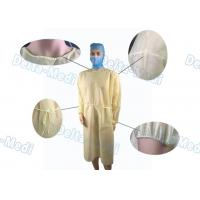 China PP Light Yellow Disposable Isolation Gowns Protective Surgery Clothing wholesale