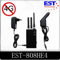 4G Portable Cell Phone Jammer / Blocker / Isolator EST-808HE4 For Military Manufactures