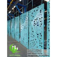 China Folded 3D Perforation Aluminum Panels For Curtain Wall Cladding Facade wholesale