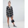 Buy cheap OEM high quality girls multi check print blazer dress from wholesalers