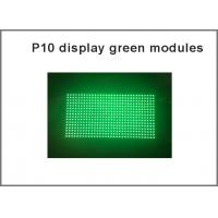 China Green LED Display Module Panel Window Sign Shop Sign P10 32X16 Matrix Programmable P10 Dot Matrix Module green sign wholesale