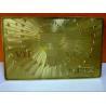 China 18k Golden Gift VIP Metal Card wholesale
