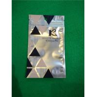 China Al Foil Bottom Sealed Plastic Ziplock Bags , Makeup Powder Puff Packing Bags wholesale