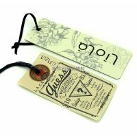 China Custom Color Apparel Hang Tags / Garment Swing Tags For Jeans Wholesale wholesale